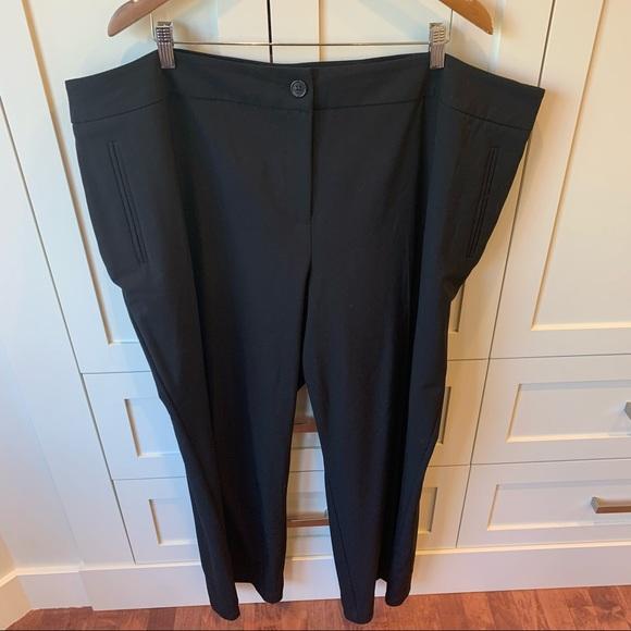 Penningtons Curvy Fit, Wide Leg, Black Pant